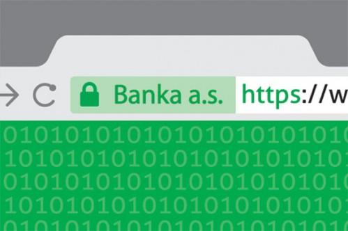 Adresový řádek webu s platným https certifikátem s rozšířeným ověřením