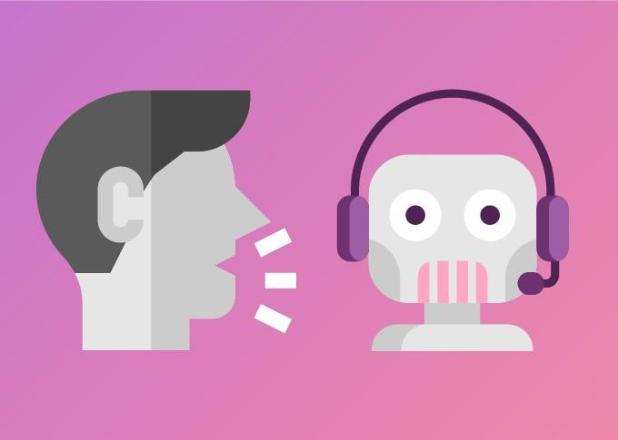 """Virtuální asistent naslouchá přes hlasové uživatelské rozhraní (viz též """"sluchátka s mikrofonem"""")"""