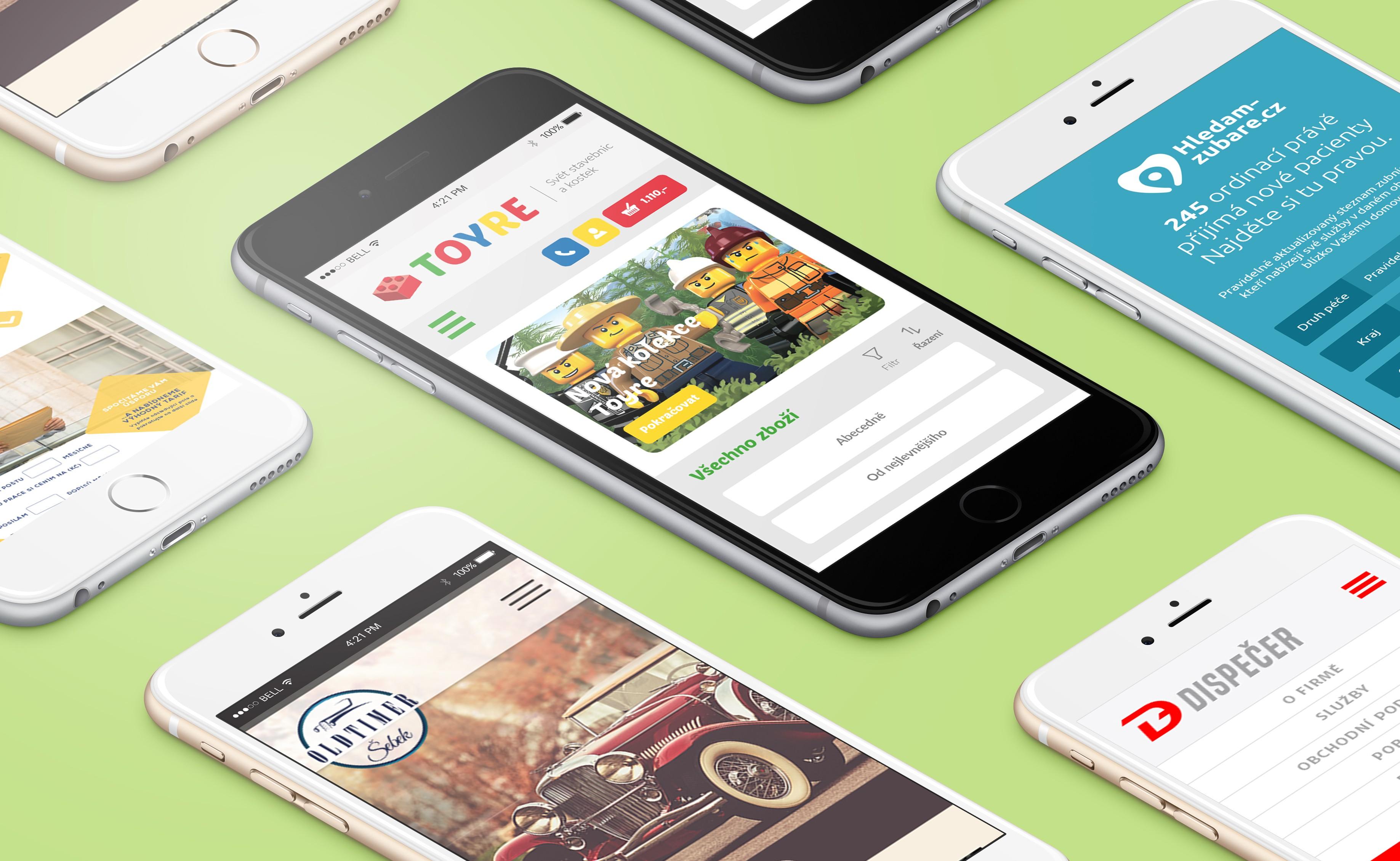 Mobilní eshopy realizované společností BlueGhost