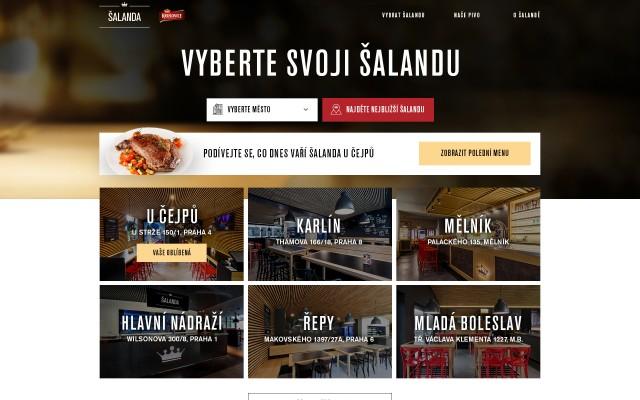 Homepage při druhé návštěvě